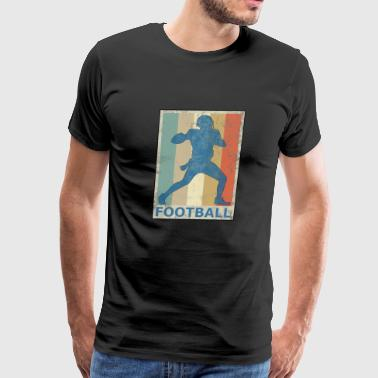 Retro Vintage Style American Football Player Sport - Men's Premium T-Shirt