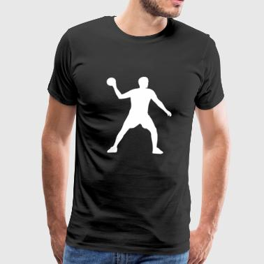 Handball Player Sports Ball Game - Men's Premium T-Shirt