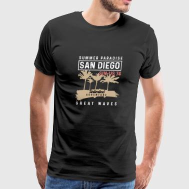 Summer Paradise in san diego california - Men's Premium T-Shirt