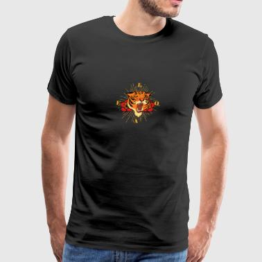 Growling Growling Tiger - Men's Premium T-Shirt