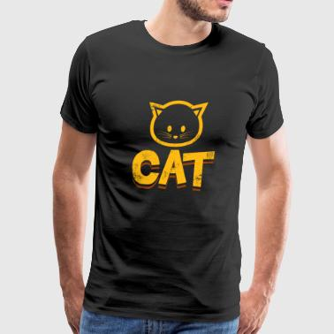 cat cats gift dogs dog - Men's Premium T-Shirt