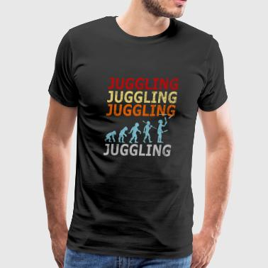 Retro Vintage Evolution Juggle Juggling Artist - Men's Premium T-Shirt