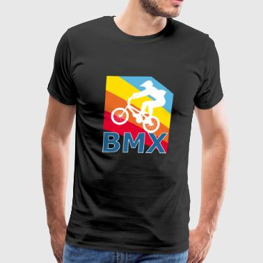 Vintage Retro Style BMX Bicycle Bike Halfpipe - Men's Premium T-Shirt
