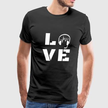 911 Emergency Dispatchers Thin Yellow Line Love Headset 2 - Men's Premium T-Shirt
