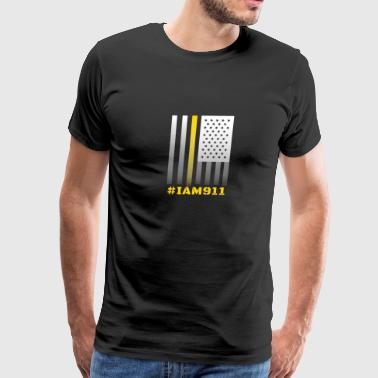 911 Emergency Dispatchers Thin Yellow Line #IAM911 bold - Men's Premium T-Shirt