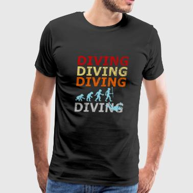 Retro Vintage Evolution Diving Diver Water Sports - Men's Premium T-Shirt