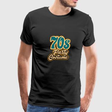 Retro Vintage 70's Party Costume Simple Halloween Shirt 1970s - Men's Premium T-Shirt
