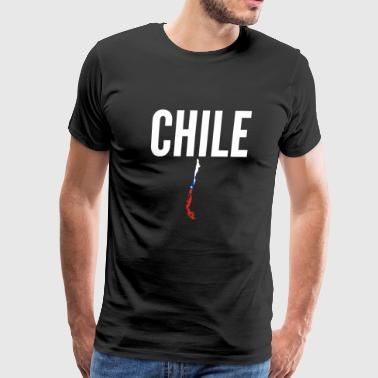Chilean Gift - Chile Map Pride Flag - Men's Premium T-Shirt