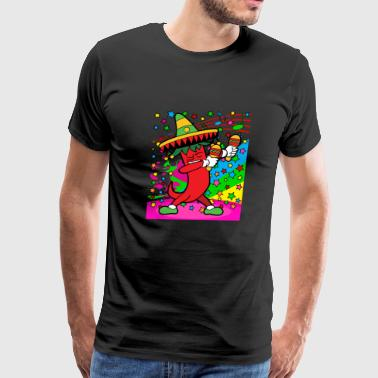 Disco Party Music Dabbing Dab Chili Pepper Mexico - Men's Premium T-Shirt