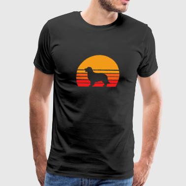 Bandana Golden Retriever Sunset - Retro Dog T Shirts - Men's Premium T-Shirt