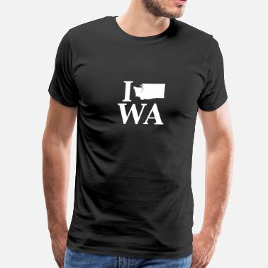 Olympia I Heart Washington graphic design state - Men's Premium T-Shirt