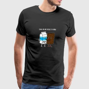 Horny Humor Chocolate and milk gift - Men's Premium T-Shirt