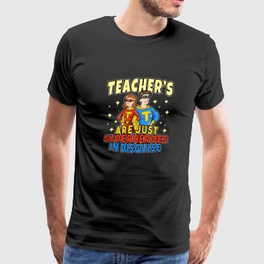 Superhero Cape Superheroes School Teacher Hero Students Gift - Men's Premium T-Shirt