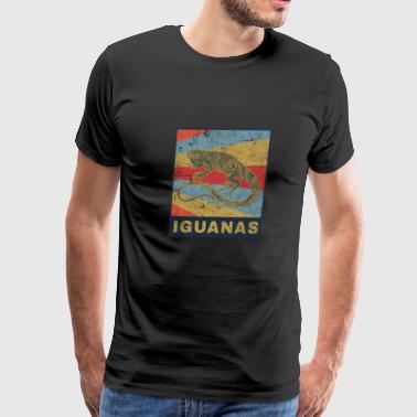 Collars Iguanas Reptile zoo pet gift idea - Men's Premium T-Shirt