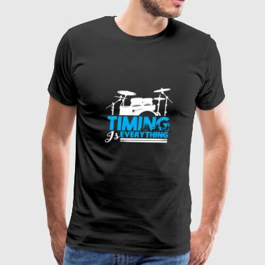 Timing is Everything Drummer Gift Christmas - Men's Premium T-Shirt