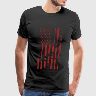 Guns- Guns flag t-shirt for American lovers - Men's Premium T-Shirt