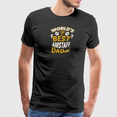 World's Best AmStaff Dad - Men's Premium T-Shirt