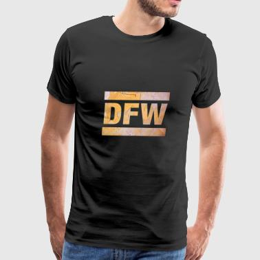 DFW, Dallas Airport, Texas, USA, Airport Call Sign - Men's Premium T-Shirt