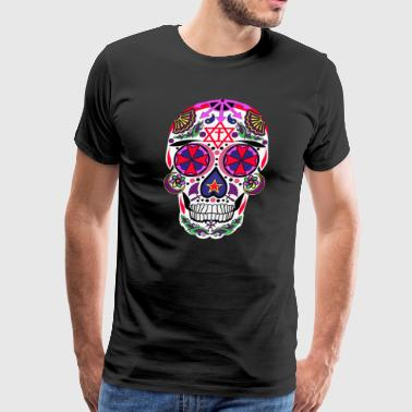 Knights of Malta Sugar Skull 2 - Men's Premium T-Shirt