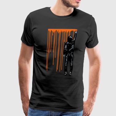 Swagg STREET ART - SPRAY BOY - Men's Premium T-Shirt