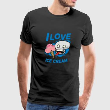I Love Ice Cream - Men's Premium T-Shirt