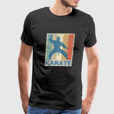Retro Vintage Style Karate Fighter Martial Arts - Men's Premium T-Shirt