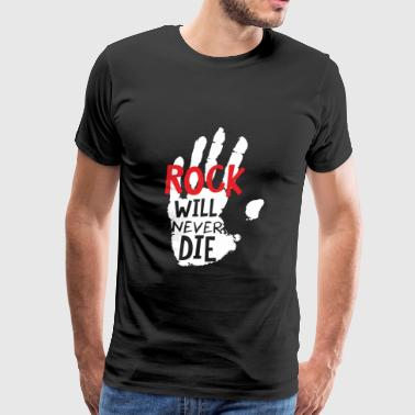 Rock lover - Rock will never die - Men's Premium T-Shirt