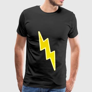 Zap - Yellow Lightning Bolt - Men's Premium T-Shirt