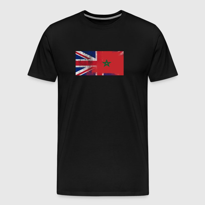 British Moroccan Half Morocco Half UK Flag - Men's Premium T-Shirt