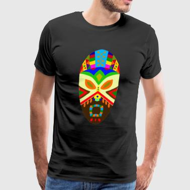 Traditional African Mask - Men's Premium T-Shirt