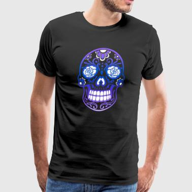 Sugar Skull, Day of the dead - Men's Premium T-Shirt