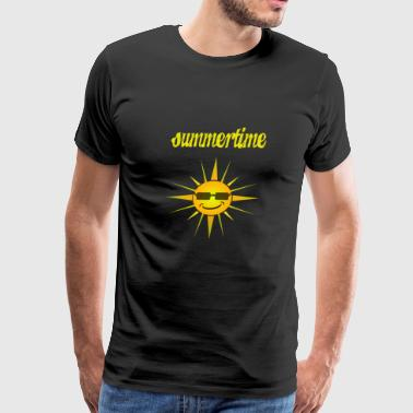 summertime - cool sun with sunglasses - Men's Premium T-Shirt