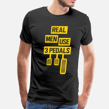 Pedals Real Me Use 3 Pedals - Men's Premium T-Shirt