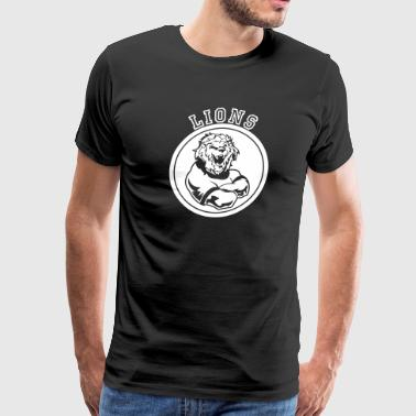 Custom Sports Lions Mascot - Men's Premium T-Shirt