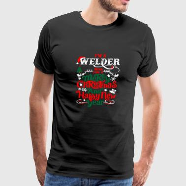 Im Welder Merry Christmas Happy New Year - Men's Premium T-Shirt