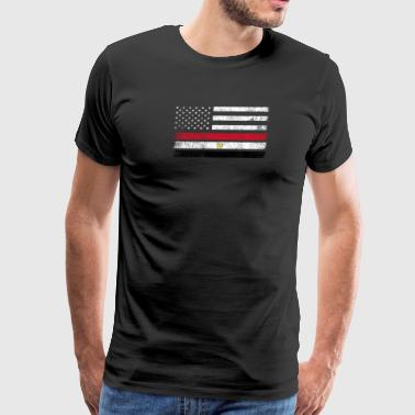 Egyptian Flag Egyptian American Flag - USA Egypt Shirt - Men's Premium T-Shirt