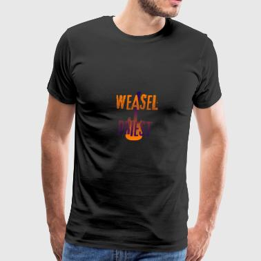Weasel Priest Gradient Design - Men's Premium T-Shirt