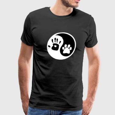 Dog For Humans ying yang human hand dog paw - Men's Premium T-Shirt