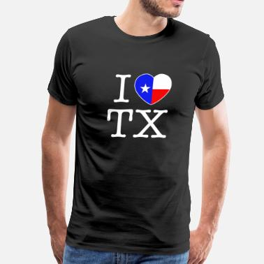 I Heart Tx I Heart Texas - Men's Premium T-Shirt