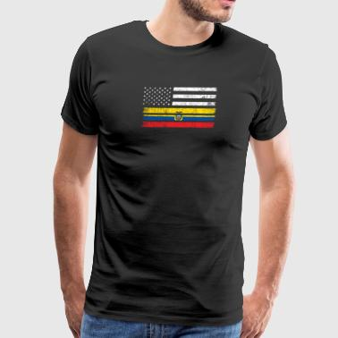 Ecuadorean American Flag - USA Ecuador Shirt - Men's Premium T-Shirt