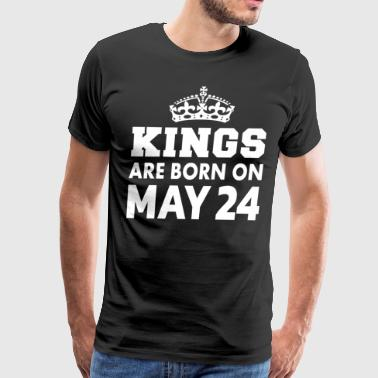 Born On 24 May Kings are born on May 24 - Men's Premium T-Shirt