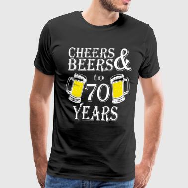 Cheers And Beers To 70 Years - Men's Premium T-Shirt