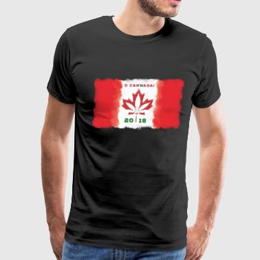 O Canada Flag - Cannabis Legalization 2018 - Men's Premium T-Shirt