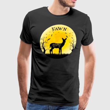 Fawn Baby Deer Halloween Vintage Retro Moon - Men's Premium T-Shirt