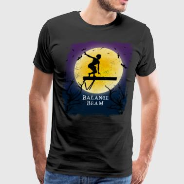 Gymnast Balance Beam Halloween Vintage Art Gymnastics - Men's Premium T-Shirt