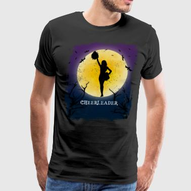 Cheerleading Halloween Vintage Art Cheerleader - Men's Premium T-Shirt