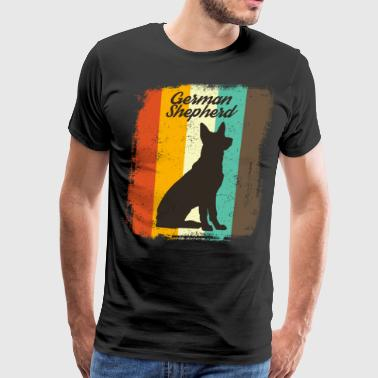 German Shepherd Apparel German Shepherd Retro 70s Vintage Dog Lover Gift - Men's Premium T-Shirt