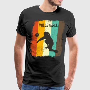 Volleyball Art Volleyball Player Retro 70s Vintage Womens Gift - Men's Premium T-Shirt