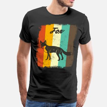 Classical Art Fox Retro 70s Vintage Animal Lover Gift - Men's Premium T-Shirt