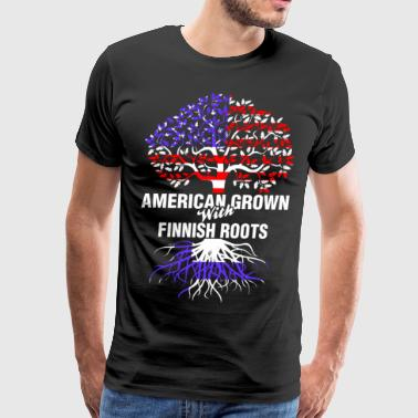 American Grown With Finnish Roots - Men's Premium T-Shirt
